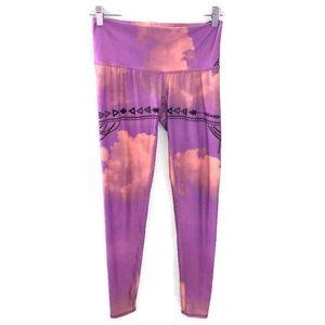 Teeki Purple Haze Goddess Yoga Capri Leggings
